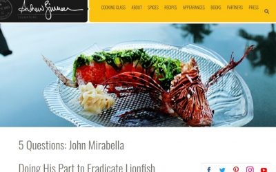 Andrew Zimmern 5 Questions About Lionfish With John Mirabella